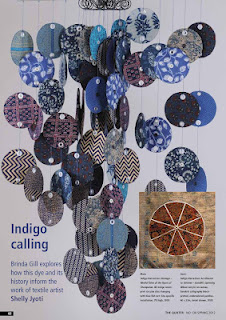 THE QUILTERS UK spring 2012 magazine-Published article on 'Indigo Narratives' series