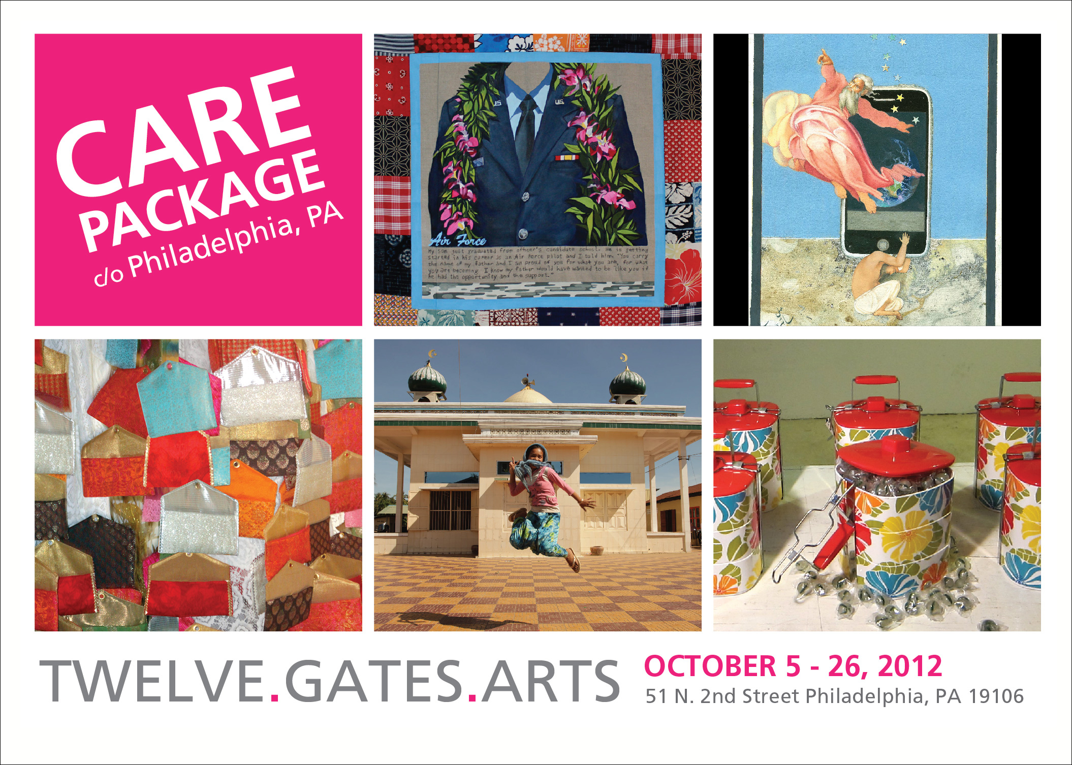 CARE PACKAGE c/o Philadelphia- Exhibition opens on October 5, 2012 at Philadelphia
