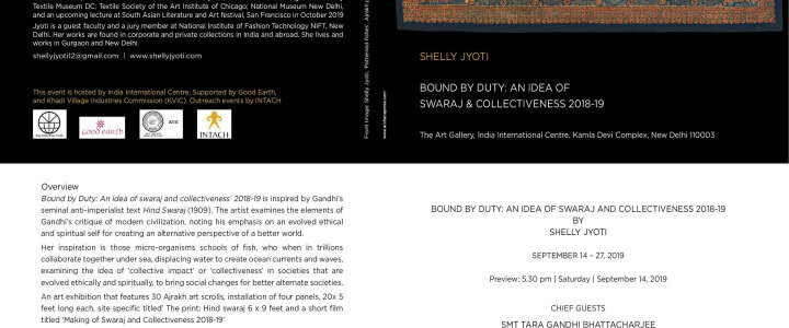 FORMAL INVITE FOR 'BOUND BY DUTY: AN IDEA OF SWARAJ AND COLLECTIVENESS 2018-19